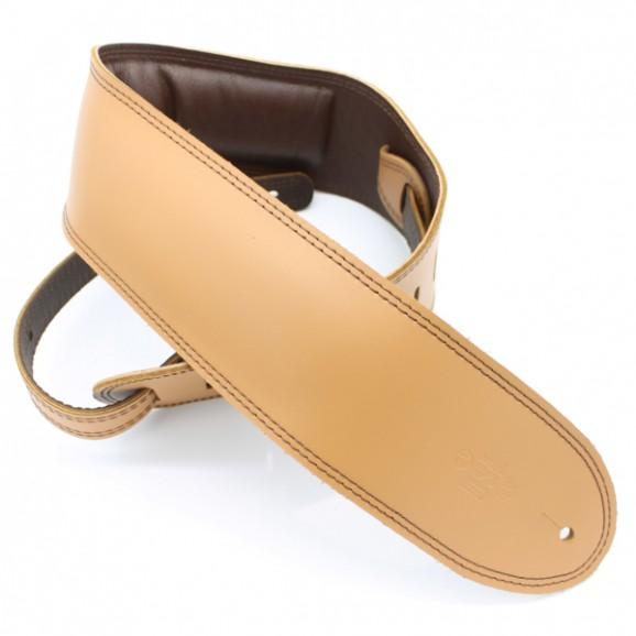 "DSL Straps - GEG35-18-2 3.5"" Padded Garment Tan/Brown Guitar Strap"