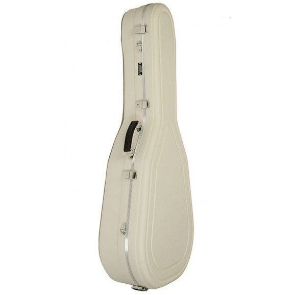 Hiscox Artist Series Jumbo Acoustic Guitar Case in Ivory