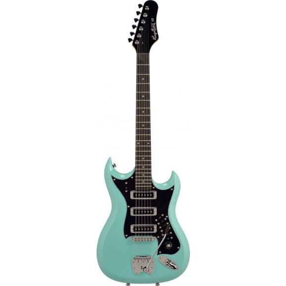 Hagstrom H-III Retroscape Guitar in Aged Sky Blue