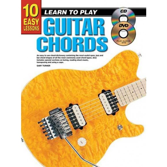 10 Easy Lessons Learn To Play Guitar Chords Book/CD/DVD