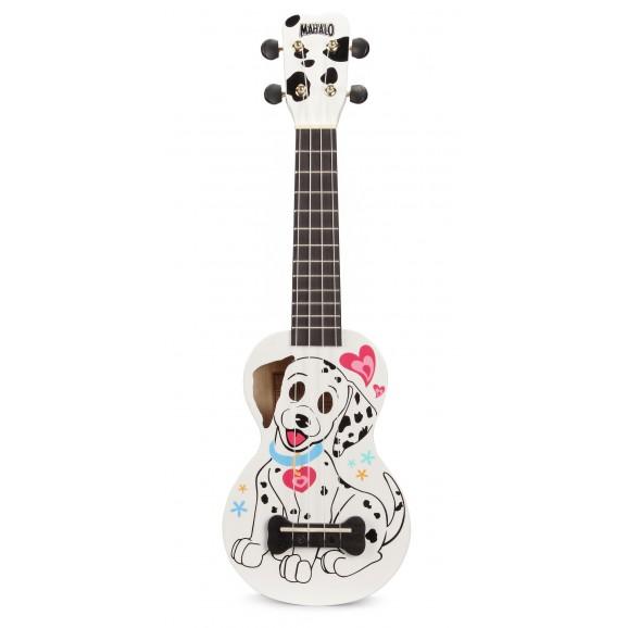 Mahalo MA1DAWT - Soprano Ukulele - Dalmatian - White