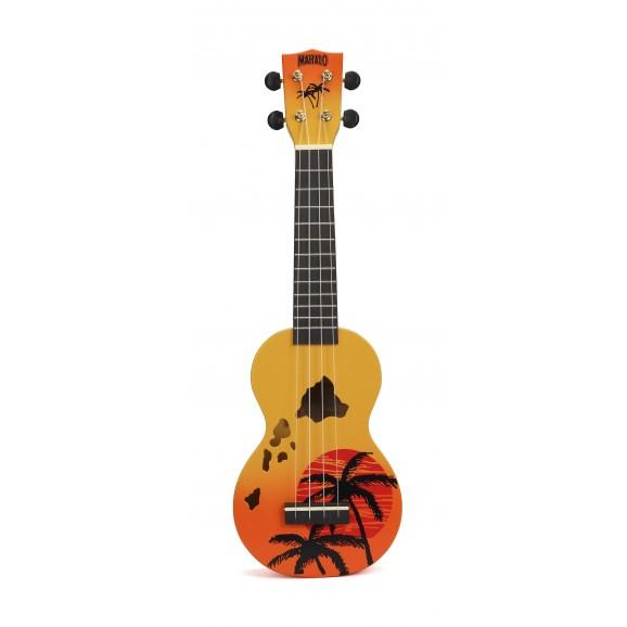 Mahalo MD1HAORB - Soprano Ukulele - Hawaii - Orange Burst