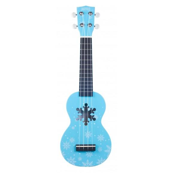 Mahalo MD1SNBU - Soprano Ukulele - Snow - Glacier Blue