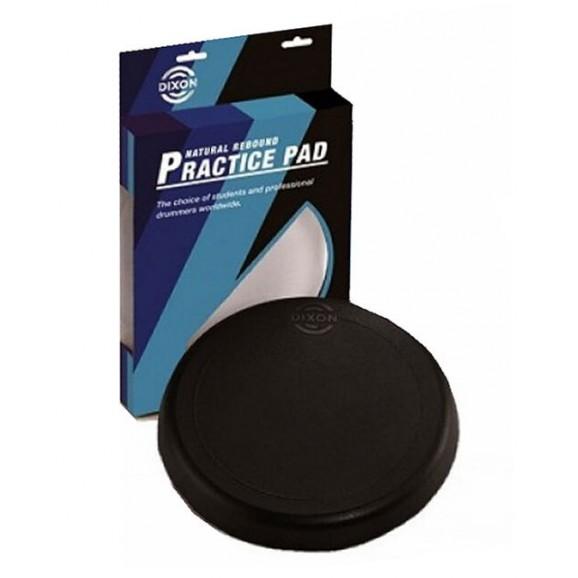 """Dixon 10"""" Rubber Drum Practice Pad in Black - Pk 1"""