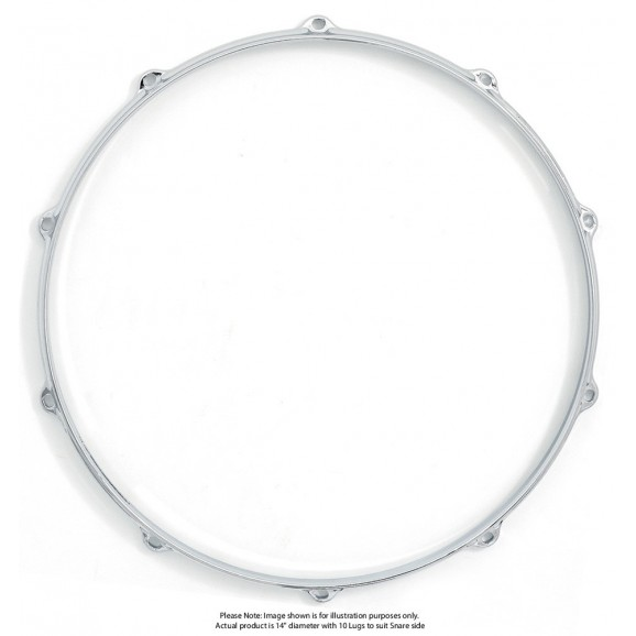 "Dixon 14""/10 Lug Die Cast Snare Side Chrome Plated Hoop - Pk 1"