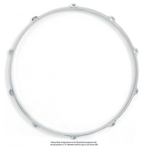 "Dixon 14""/8 Lug Die Cast Snare Side Chrome Plated Hoop - Pk 1"
