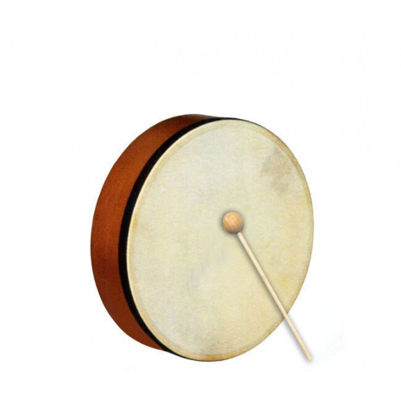 """Percussion Plus 6"""" Handheld Frame Drum with Wooden Beater"""