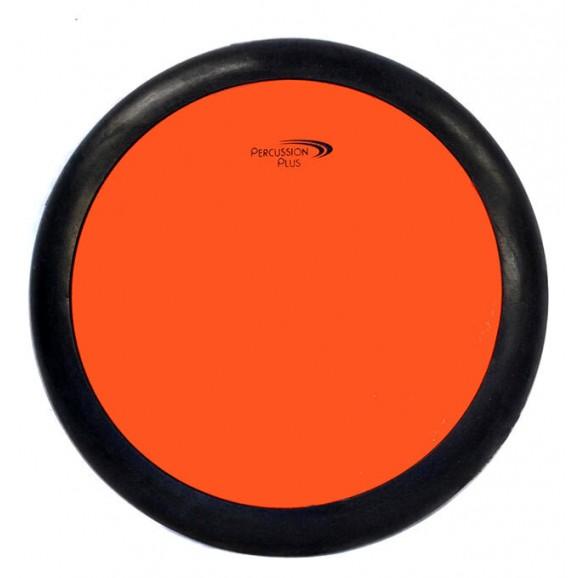 """Percussion Plus 8"""" Round Drum Practice Pad in Orange"""