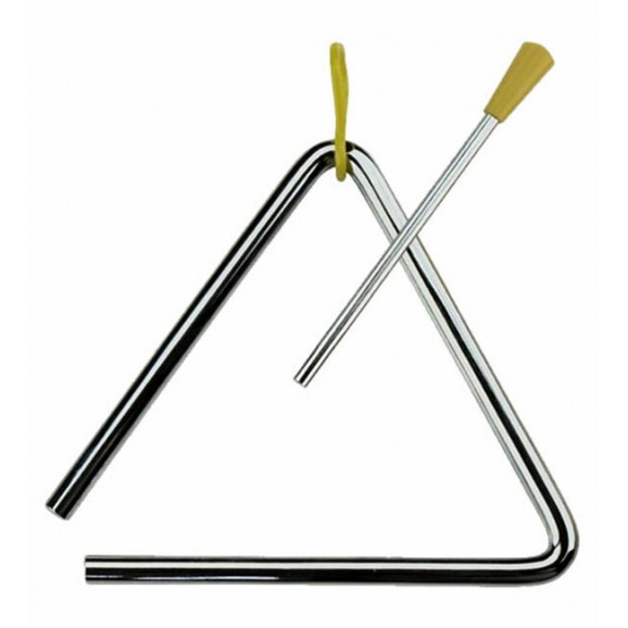 "Percussion Plus 10"" Triangle with Striker Hand Percussion Sound Effect"