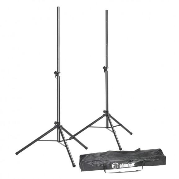 Adam Hall SPS023SET Set Of 2 Adjustable Aluminium Speaker Stands With Bag