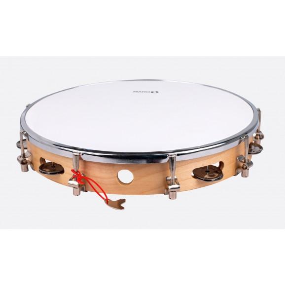"""Mano Percussion 12"""" Tuneable tambourine"""