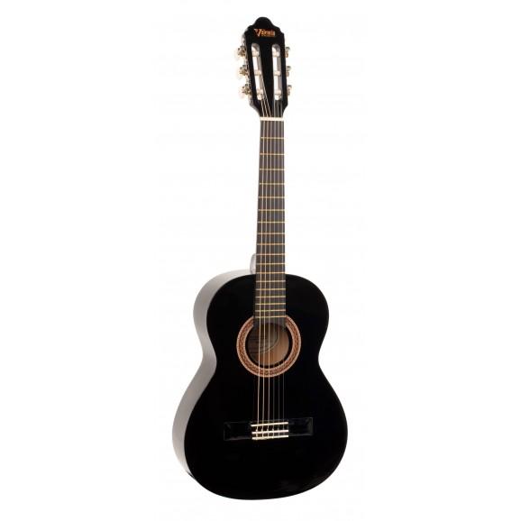 Valencia VC102BK - 1/2 Size Classical Guitar - Gloss Black