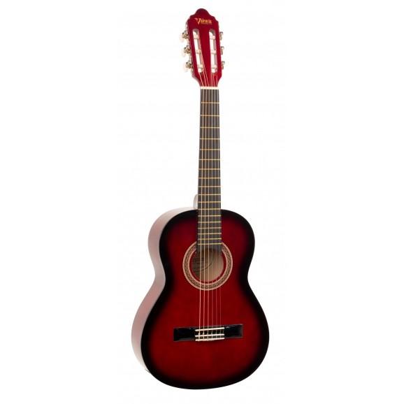 Valencia VC102RDS - 1/2 Size Classical Guitar - Gloss Red Sunburst