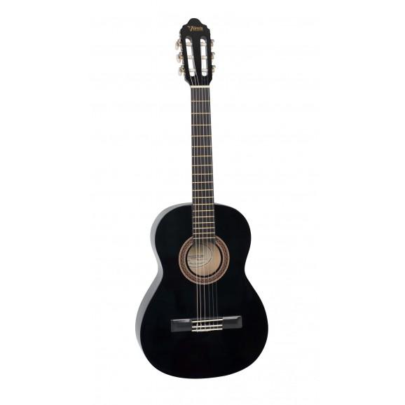 Valencia VC103BK - 3/4 Size Classical Guitar - Gloss Black