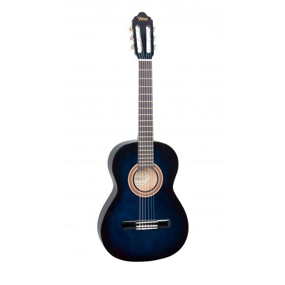 Valencia VC103BUS - 3/4 Size Classical Guitar - Gloss Blue Sunburst