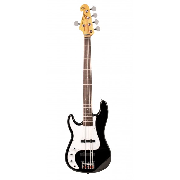 SX - VEP562LHB 5 String Bass Guitar Left Hand in Black