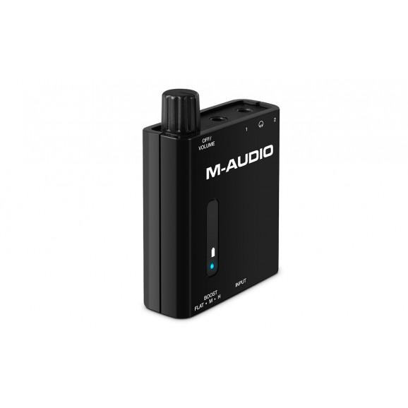 M-Audio - Bass Traveller Portable Headphone Amplifier w/ Dual Outputs & Bass Boost
