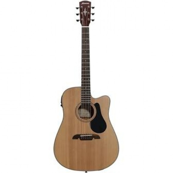 Alvarez Acoustic /Electric Guitar with Cutaway in Natural AD30CE