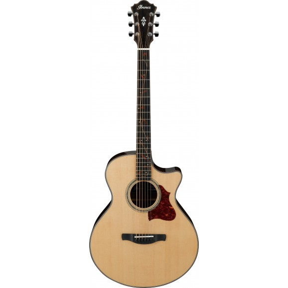 Ibanez -  AE255BT NT Acoustic Guitar - Natural High Gloss - 2019