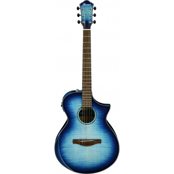Ibanez -  AEWC400 IBB Acoustic Guitar - Transparent Indigo Blue Burst High Gloss - 2019