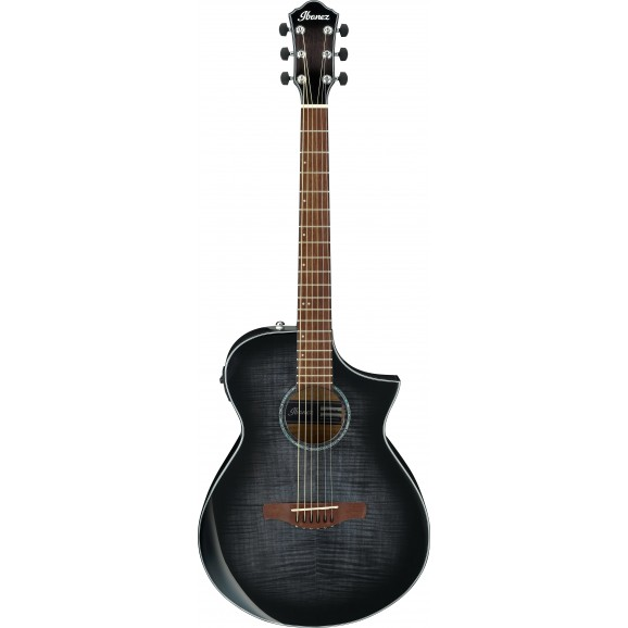 Ibanez -  AEWC400 TKS Acoustic Guitar - Transparent Black  Sunburst - 2019