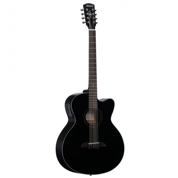 Alvarez 8 String Baritone Acoustic Guitar in Black