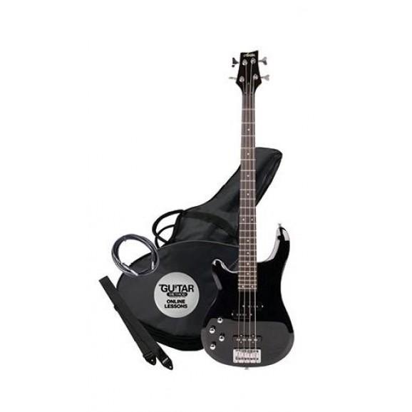 Ashton AB4LBK Bass Guitar Left Handed in Black