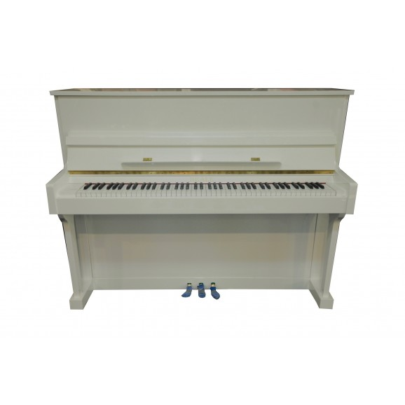 Beale UP118M 118cm Upright Piano in Polished White