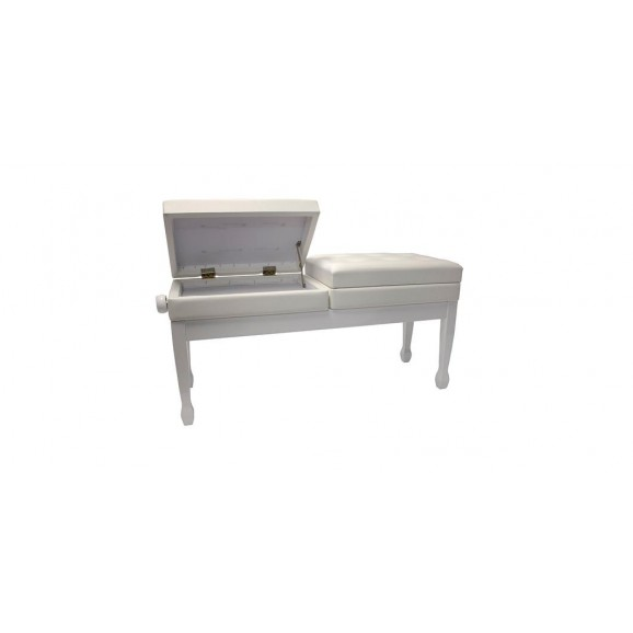 Beale BPB990 WH White Dual Adjustable Piano Bench