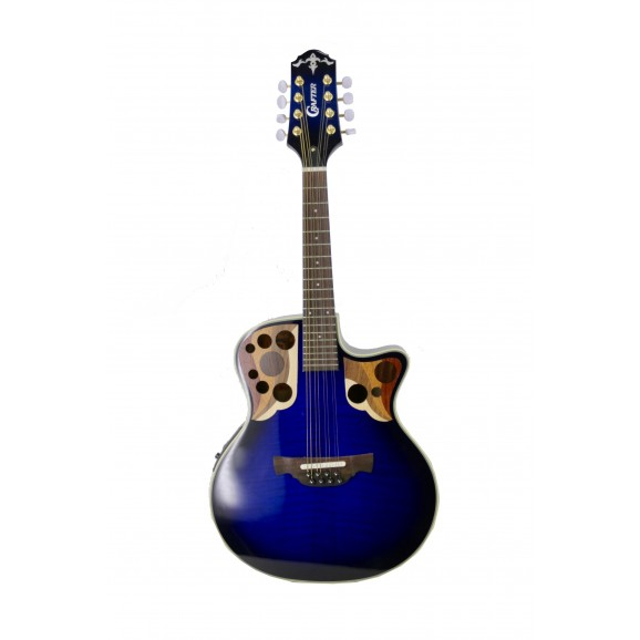 Crafter M88E Mandolin with Pickup in Blue Tiger Marine