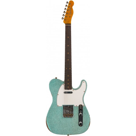 Fender Custom Shop Limited Edition 61 Telecaster Relic in Aged Daphne Blue Sparkle