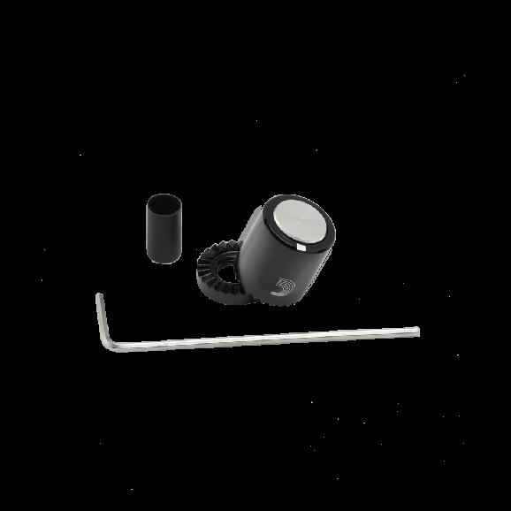 LOKNOB Small Black and Silver Metal Knob PW-LNPS-01BS