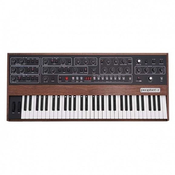 Sequential Prophet 5 Analogue 5 Voice Analog Poly Synthesiser