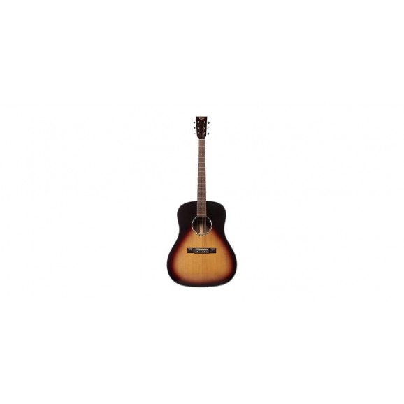 Tasman TA200D-EL LH Drop Shoulder Acoustic Electric Guitar w/ Case