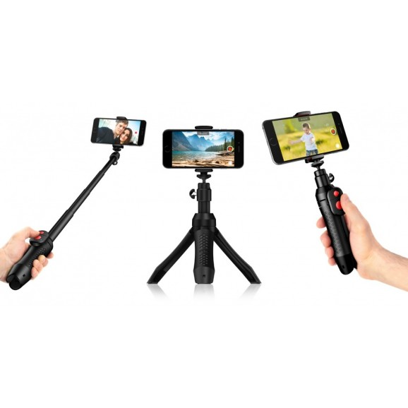 IK Multimedia iKlip Grip Pro Professional Multifunction Smartphone Stand with Bluetooth Shutter