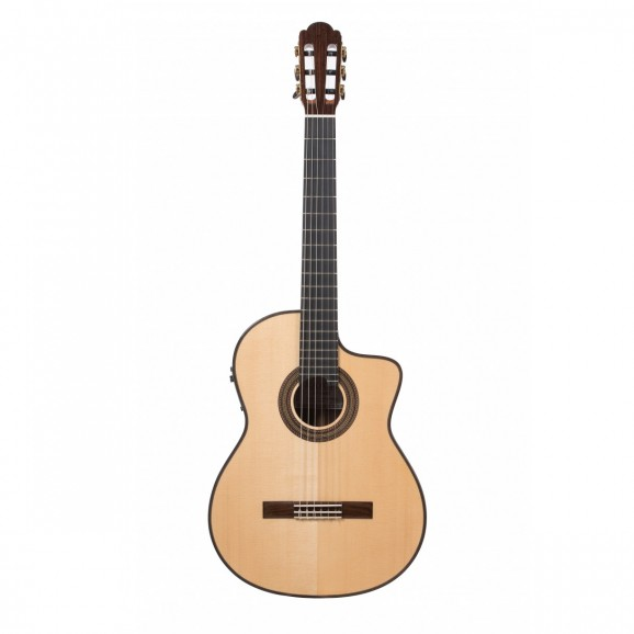 Katoh KTORR Torres Style Classical Guitar W/Case in Solid Spruce/Rosewood