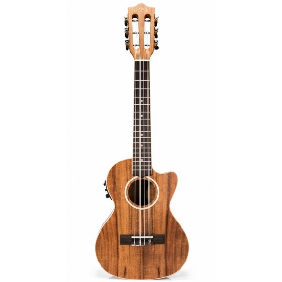 Lanikai LAC6CET Acacia Series 6-String AC/EL Ukulele In Natural Satin Finish