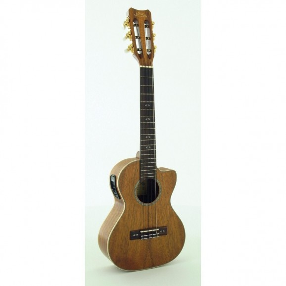 Lanikai Curly Koa 6-String Tenor Ukulele with Pickup