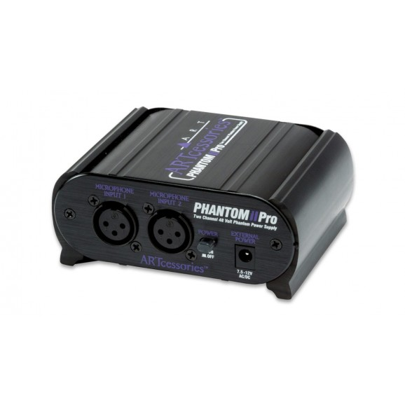 ART - Phantom II Pro Two Channell 48V Phantom Power Supply
