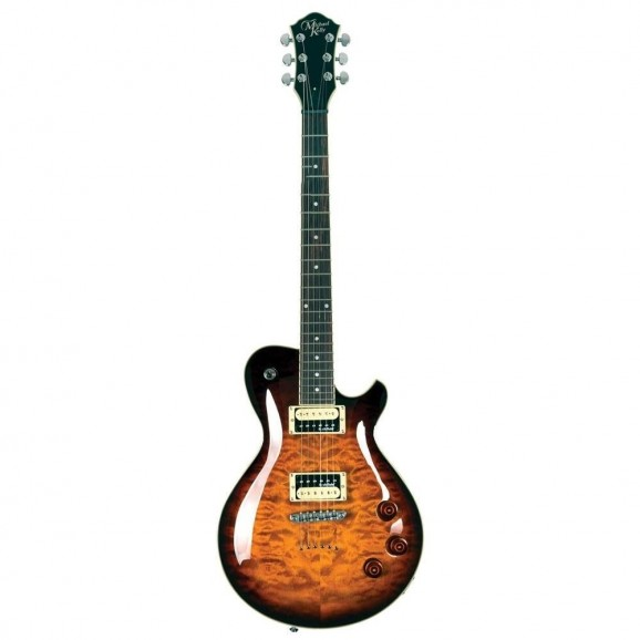 Michael Kelly - LP Style - Electric Guitar Patriot Enlightened (Light Weight) Dark Amber Burst
