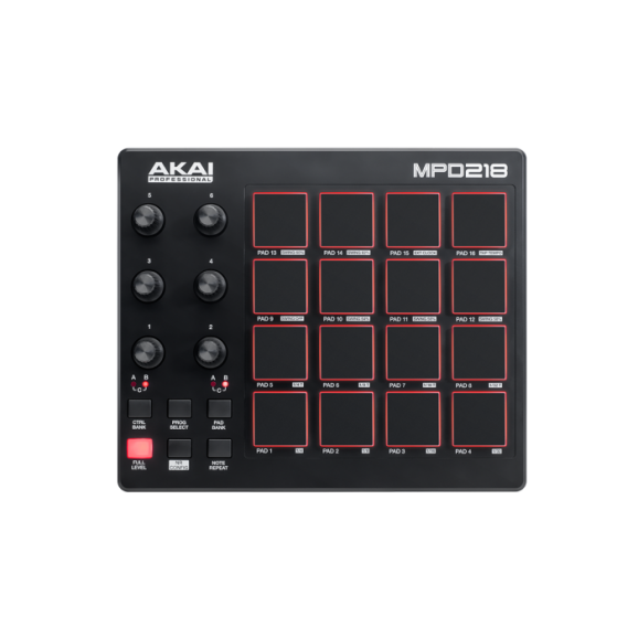 Akai MPD218 Feature-Packed,Highly Playable Pad Controller