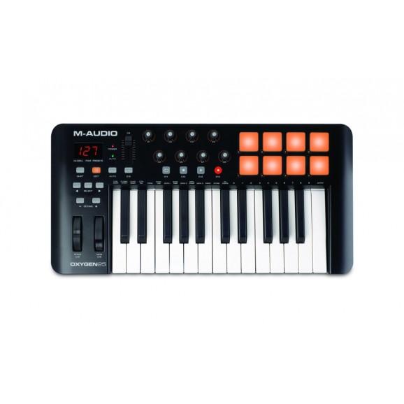 M-Audio - Oxygen 25 MK4 USB Key Controller - Pads, Pots, Faders