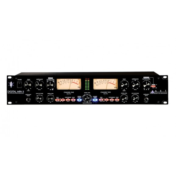 ART - DIGITAL MPA II Professional Two Channel Tube Microphone Amplifier with Digital Outputs - Rack Mount