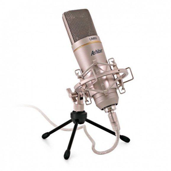 Ashton UM88 Studio USB Microphone for Live Streaming Podcasts etc