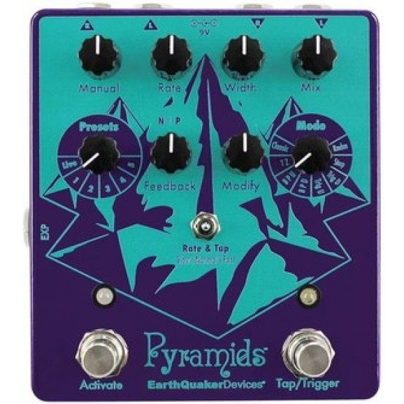 EarthQuaker Devices - Pyramids Stereo Flanger (includes power supply)