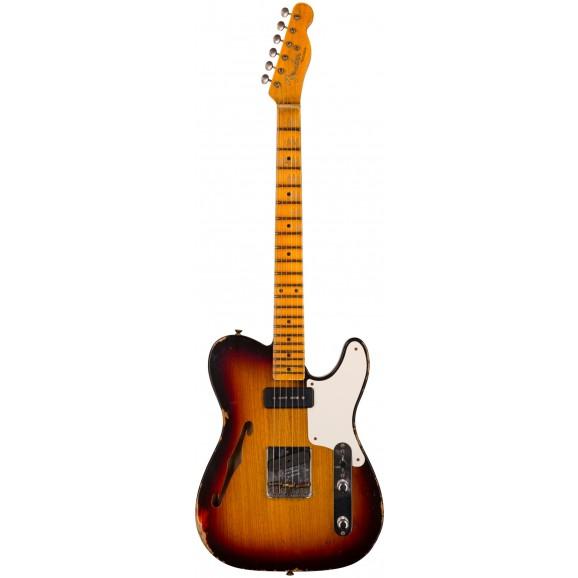 Fender Custom Shop Limited Edition P90 Telecaster Thinline Relic in Chocolate 3 Color Sunburst