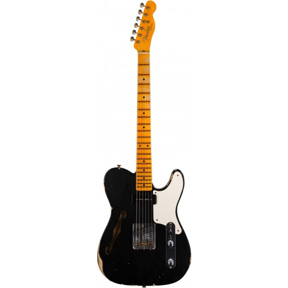 Fender Custom Shop Limited Edition P90 Telecaster Thinline Relic in Aged Black