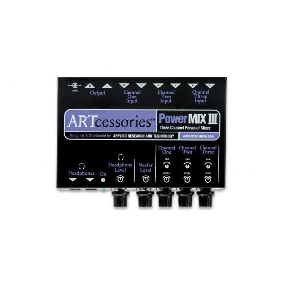 ART - PowerMIX III Three Channel Personal Stereo Mixer