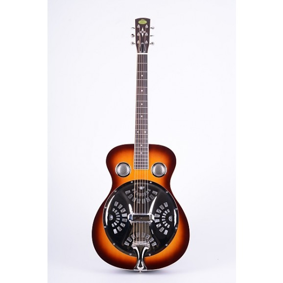 Regal RD-40V Resophonic Dobro Guitar with Round Neck in Sunburst