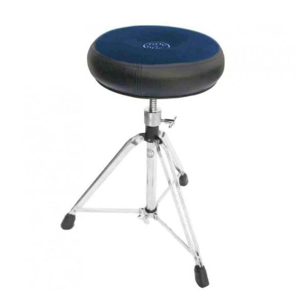 Roc-N-Soc Drum Throne Manual Spindle w/Round Blue Seat